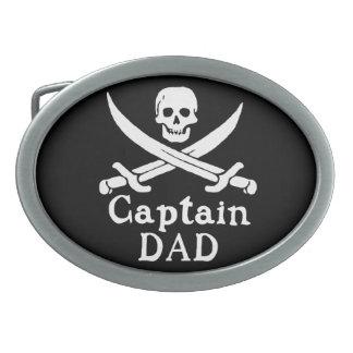 Capitán Dad - obra clásica Hebilla De Cinturón Oval