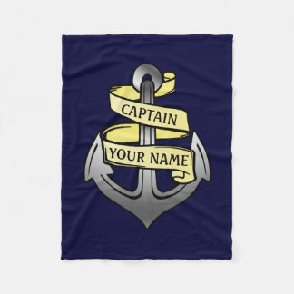 Capitán de buque adaptable su ancla conocida 1 manta de forro polar