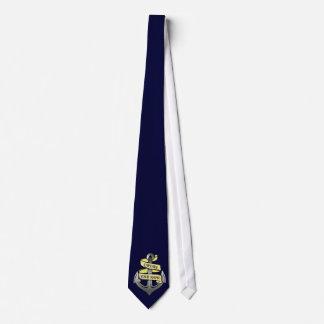 Capitán de buque adaptable su ancla conocida corbatas