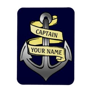 Capitán de buque adaptable su ancla conocida iman