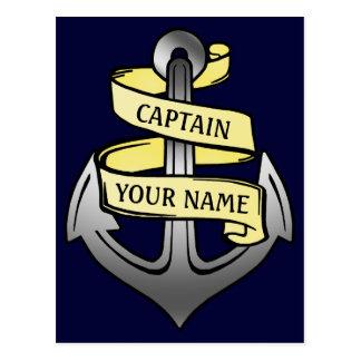 Capitán de buque adaptable su ancla conocida tarjetas postales