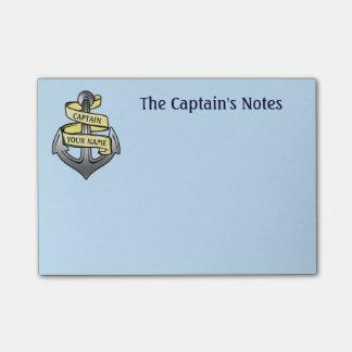 Capitán de buque adaptable su ancla conocida notas post-it