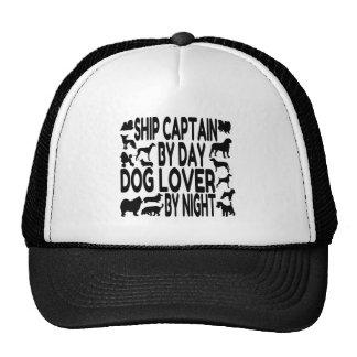 Capitán de buque del amante del perro gorro
