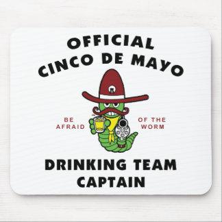 Capitán de consumición del equipo de Cinco de Mayo Alfombrilla De Ratón