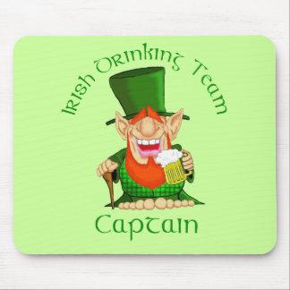 Capitán de consumición irlandés del ~ del equipo mousepad