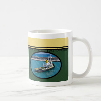 Capitán de encargo Mug del barco del tirón Taza De Café