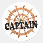 Capitán de las trituradoras etiqueta