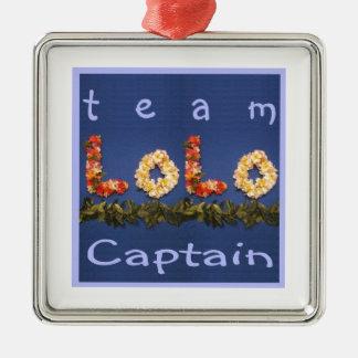 Capitán de Lolo del equipo Adorno Navideño Cuadrado De Metal