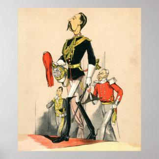 Capitán de los guardias de caballo reales póster