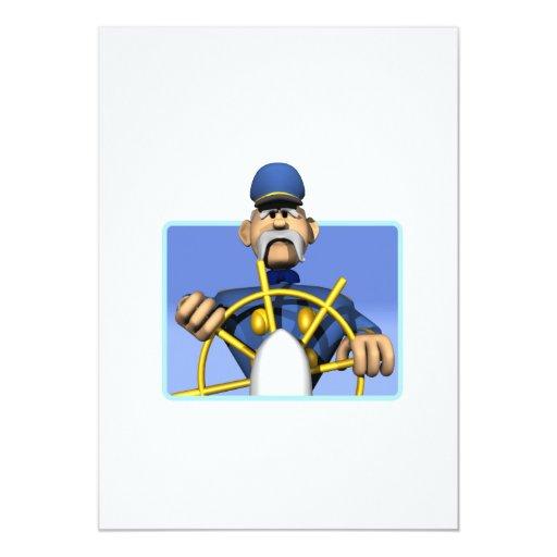 """Capitán de mar invitación 5"""" x 7"""""""