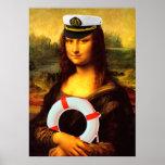 Capitán de mar Mona Lisa Póster