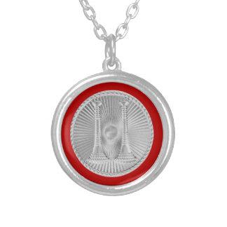 Capitán de plata Medallion del bugle del bombero 2 Colgante Redondo