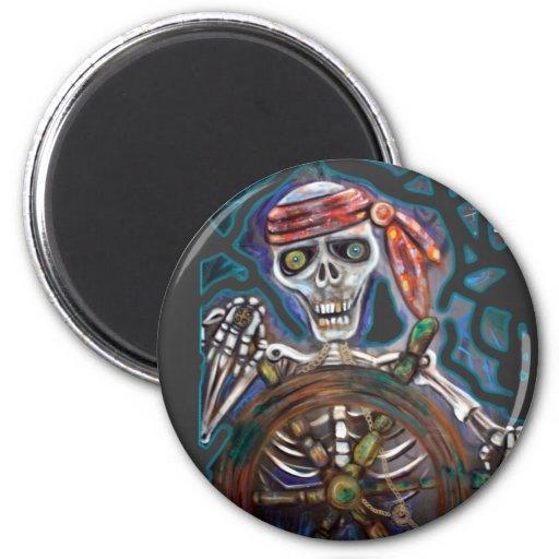 Capitán Death Imán Redondo 5 Cm