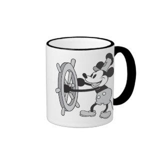 Capitán del barco de vapor de Mickey Mouse Taza De Dos Colores
