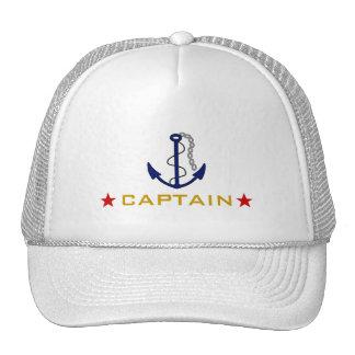 Capitán del barco gorro de camionero