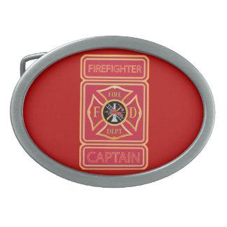 Capitán del bombero hebillas cinturon ovales