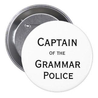 Capitán del botón de la policía de la gramática pin