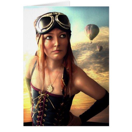 Capitán del dirigible tarjeta