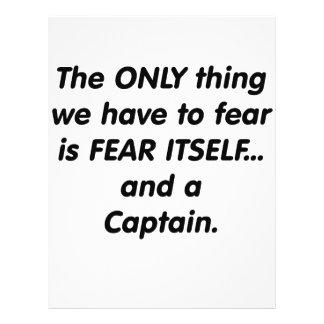 Capitán del miedo tarjeton