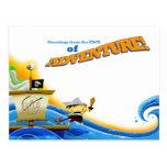 Capitán del pirata de Lil: Postal de la aventura