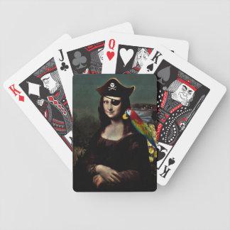 Capitán del pirata de Mona Lisa Cartas De Juego
