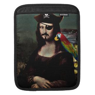 Capitán del pirata de Mona Lisa - bigote Mangas De iPad