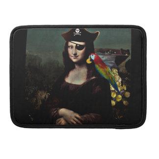 Capitán del pirata de Mona Lisa Fundas Macbook Pro
