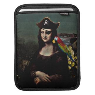 Capitán del pirata de Mona Lisa Fundas Para iPads