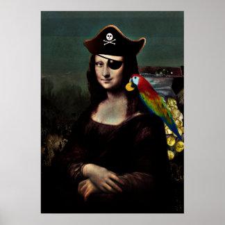 Capitán del pirata de Mona Lisa Posters