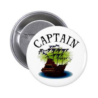 Capitán del pirata pin