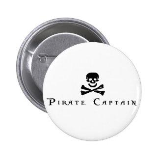 Capitán del pirata pins