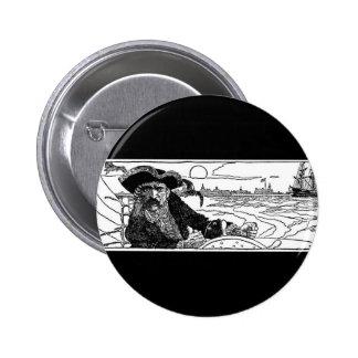 Capitán del pirata pin redondo 5 cm