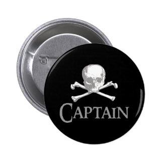 Capitán del pirata pin redondo de 2 pulgadas
