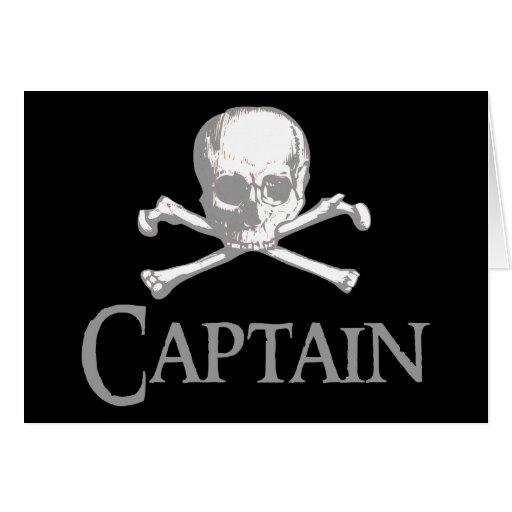 Capitán del pirata tarjeta de felicitación