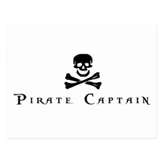 Capitán del pirata tarjetas postales