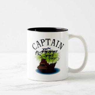 Capitán del pirata taza dos tonos