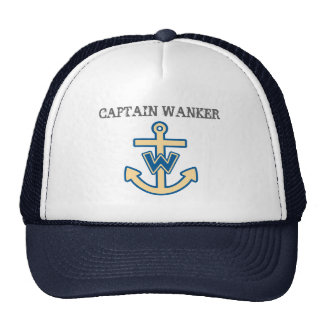 """Capitán divertido Wanker "" Gorro De Camionero"