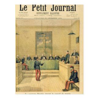 Capitán Dreyfus antes del consejo de guerra Postal