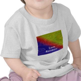 Capitán elegante del arco iris de la calle camiseta