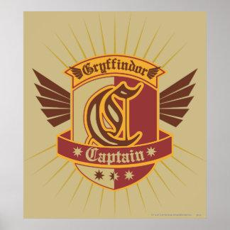 Capitán Emblem de Gryffindor Quidditch Poster