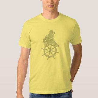 Capitán en la camiseta de American Apparel de la Remera
