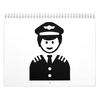 Capitán experimental calendario de pared