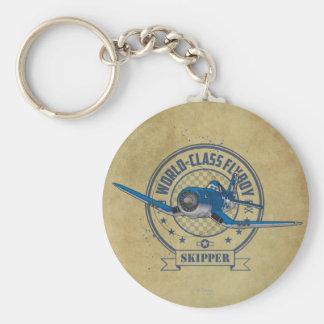 Capitán - Flyboy de calidad mundial Llavero Redondo Tipo Pin