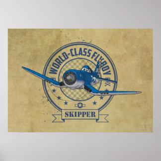 Capitán - Flyboy de calidad mundial Poster