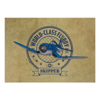 Capitán - Flyboy de calidad mundial Póster