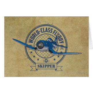 Capitán - Flyboy de calidad mundial Tarjetón