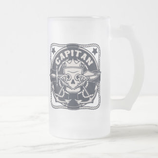Capitan Frosted Glass Beer Mug