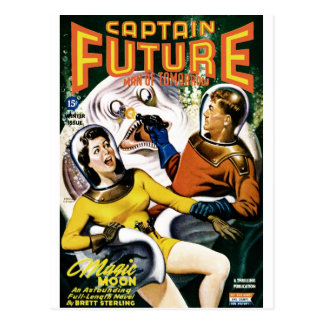Capitán Future - luna mágica Tarjeta Postal