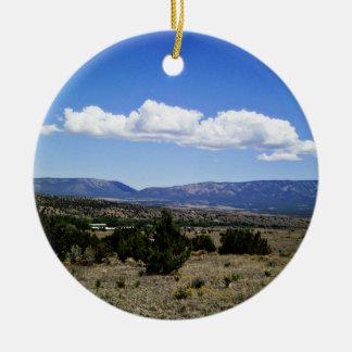 Capitan Gap Mountains New Mexico Ceramic Ornament