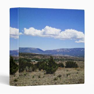 Capitan Gap Mountains New Mexico Vinyl Binder